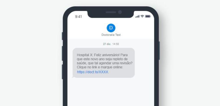 Campanhas de SMS temáticas - Aniversário -Doctoralia