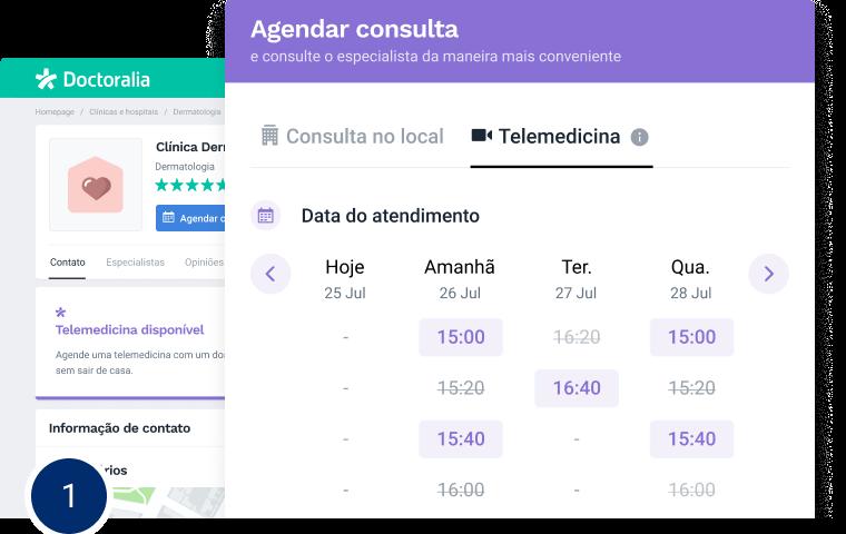 Telemedicina - Escolha a data